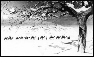 camels-in-the-snow-of-persia-300x183