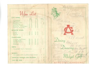 Athlone dining card outer