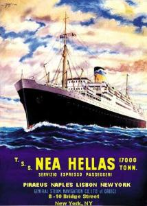 Nea Hellas - once again a passenger liner - 1949