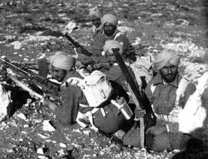 Sikh soldiers from the Indian army