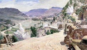 road to Jezzine painting